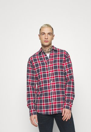 JJEWILL CHECK SHIRT  - Shirt - navy
