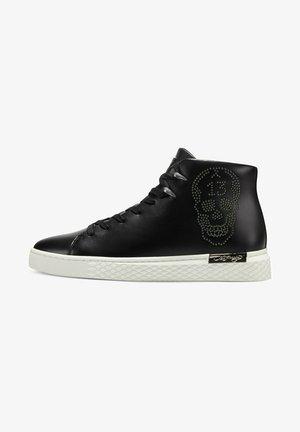 LUCKY - Sneakers hoog - black gunmetal white