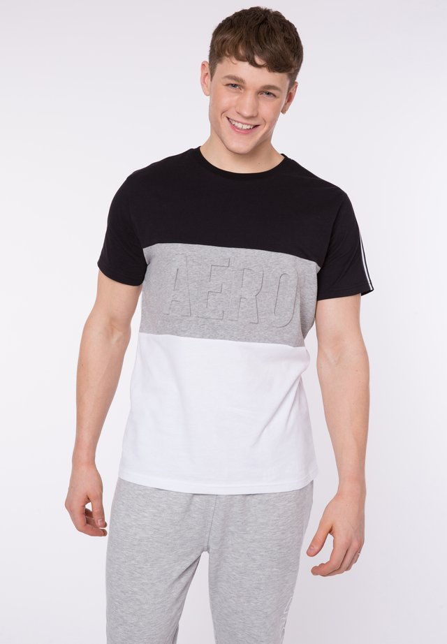 TAPED PANEL - T-shirt imprimé - black