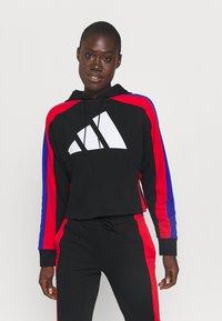 adidas Performance - BIG LOGO - Tuta - black/vivid red/bold blue - 0