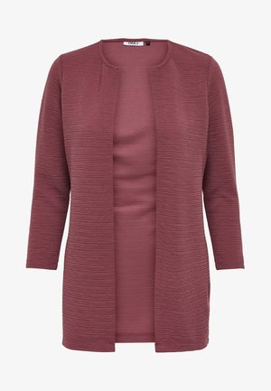 ONLLECO LONG  - Strickjacke - dark red