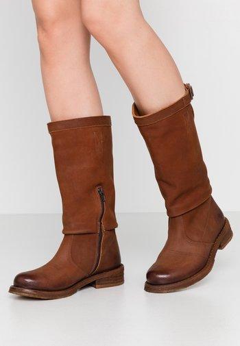 COOPER - Cowboy/Biker boots - morat