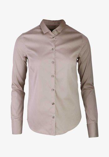Button-down blouse - creme - beige