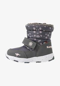 KangaROOS - SNOWRUSH - Vinterstövlar - steel grey/frost pink - 1