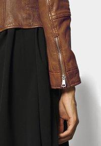 Oakwood - ALIZEE - Leather jacket - cognac - 4