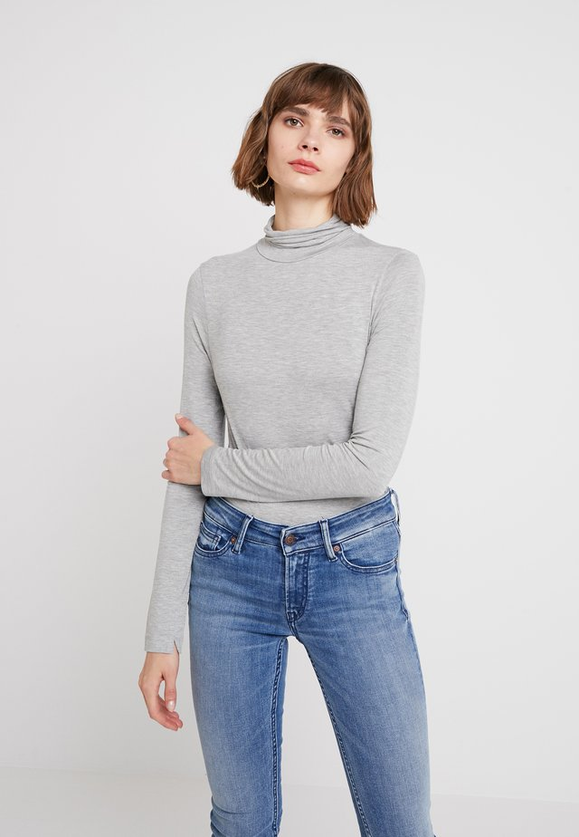 VENETIA SPLIT CUFF - Long sleeved top - light grey