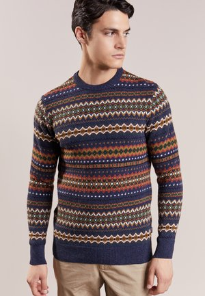CASE FAIRISLE CREW - Jumper - navy