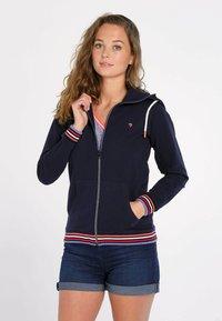 J&JOY - veste en sweat zippée - blauw - 0