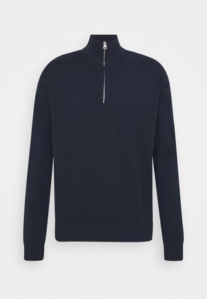 GUNA TURTLE NECK ZIP - Maglione - sky captain