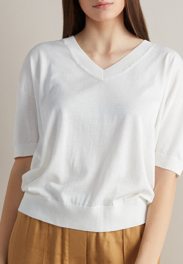 T-shirt - bas - bianco
