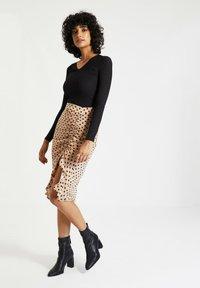 Trendyol - Pencil skirt - beige - 3