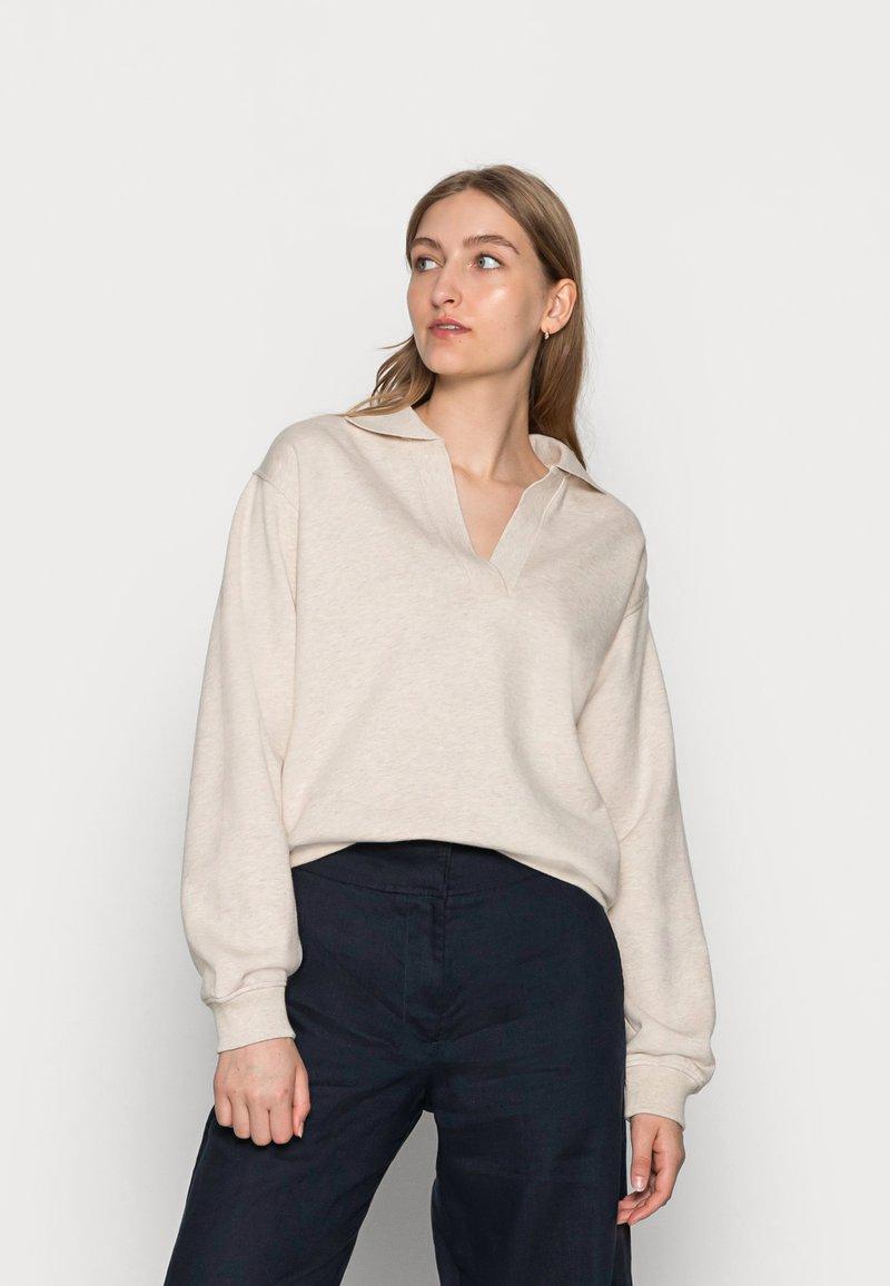 Samsøe Samsøe - ELLI POLO  - Sweatshirt - whisper white