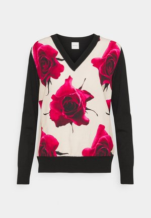 WOMENS JUMPER - Svetr - red/black