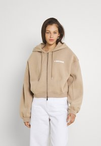 WRSTBHVR - CORBY HOODED ZIP WOMEN - Zip-up sweatshirt - roasted beige - 2