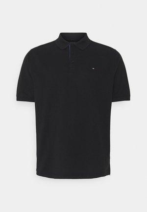CONTRAST PLACKET - Polo shirt - black