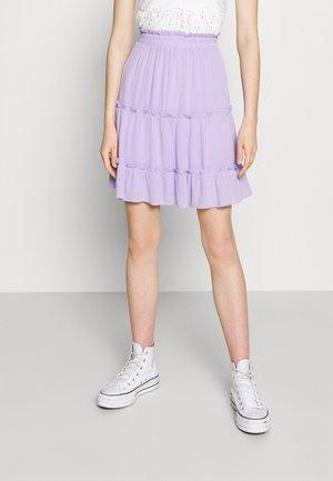 VISEL FESTIVAL RUFFLE SKIRT - A-line skirt - lavender