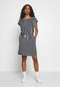 Vero Moda - VMSASHA BALI SHORT DRESS NOOS - Day dress - navy blazer/coco - 1