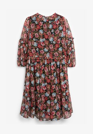 FLORAL TIERED CHIFFON - Korte jurk - pink