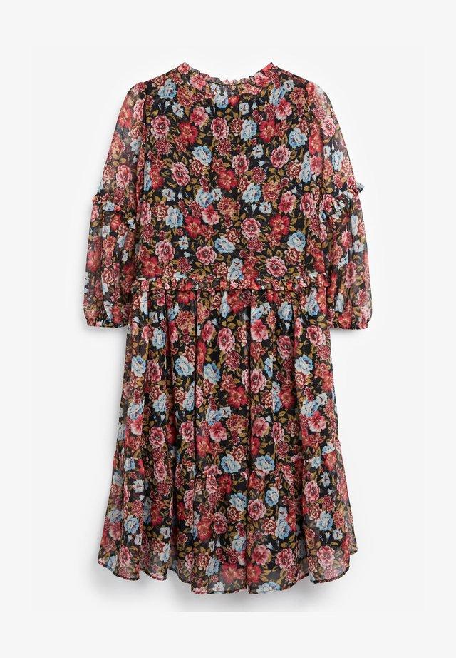 FLORAL TIERED CHIFFON - Robe d'été - pink