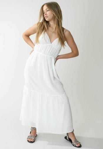 Vestido largo - altweiß