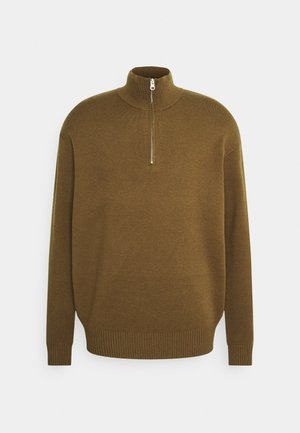 GUNA TURTLE NECK ZIP - Jumper - kangaroo