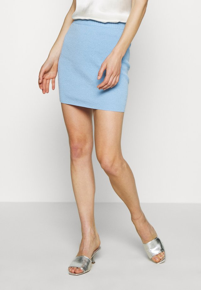 LEMON SQUEEZY CROP SKIRT - Mini skirt - sky blue