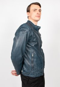 Freaky Nation - BLUERACY - Leather jacket - true navy - 2