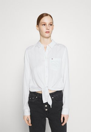 FRONT KNOT - Button-down blouse - white