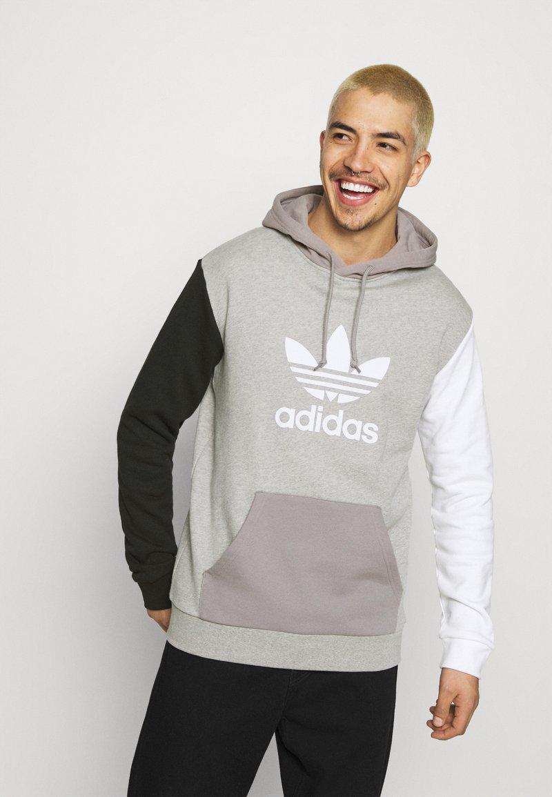 adidas Originals - BLOCKED UNISEX - Luvtröja - black/white