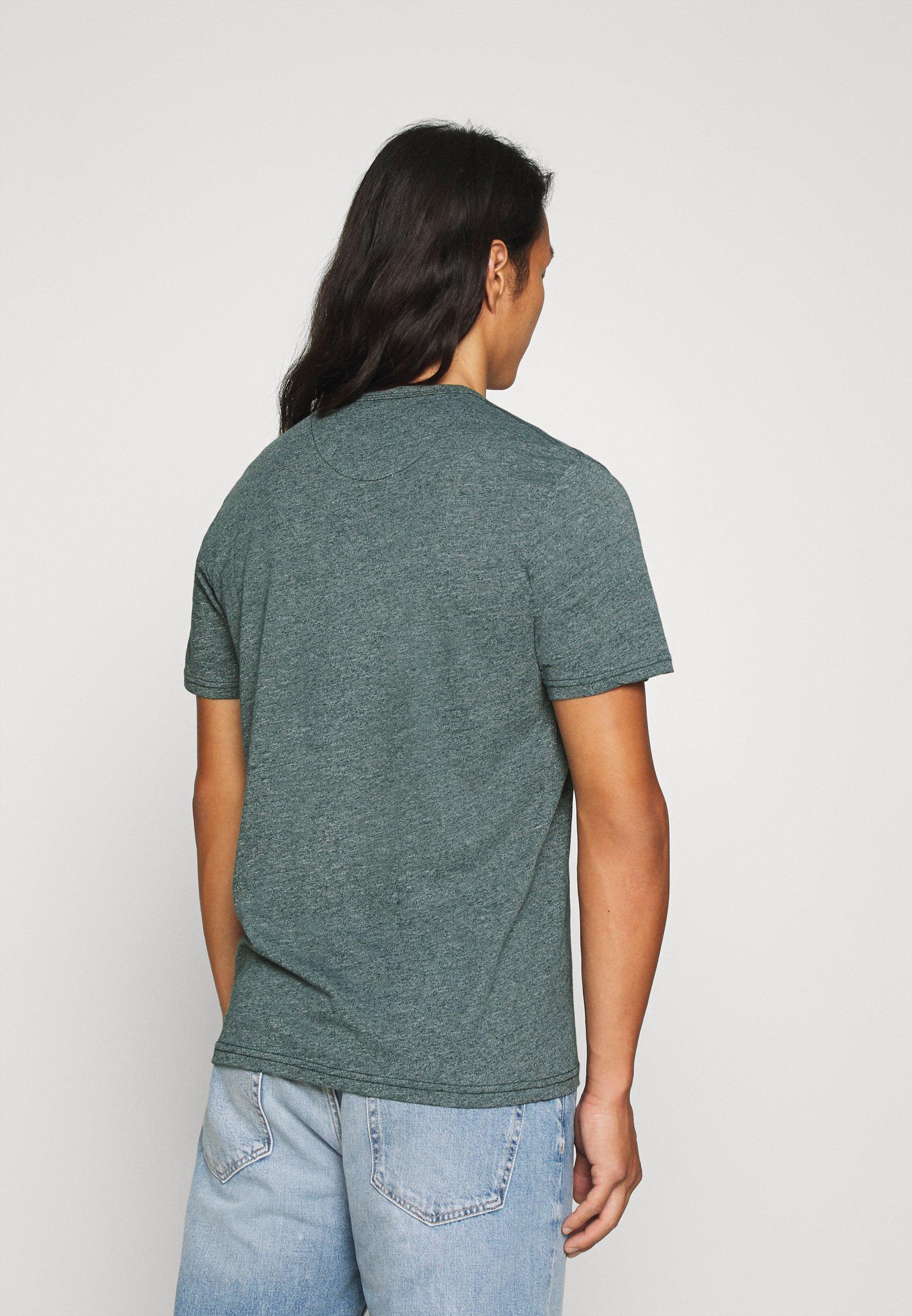 TOM TAILOR COSY GRINDLE  - Basic T-shirt - stroke green bek6T