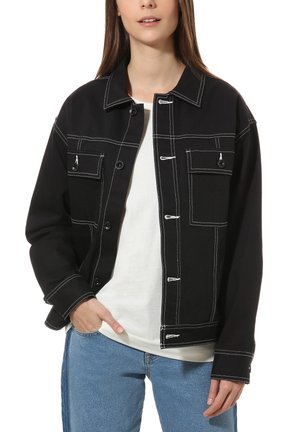WM IN THE KNOW JACKET - Denim jacket - black