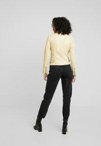 Gipsy - PGG LABAGV - Leather jacket - pale yellow - 2