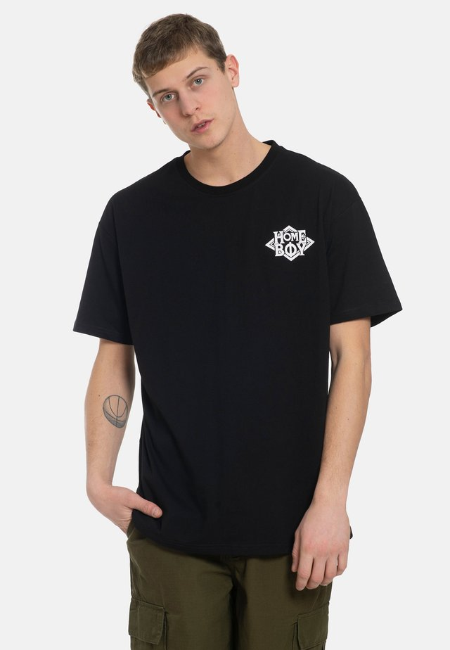 THE BIGGER TEE - Print T-shirt - black