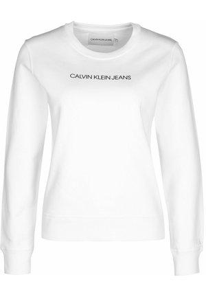SWEATER INSTITUTIONAL REGULAR CREW NECK W - Sweatshirt - white