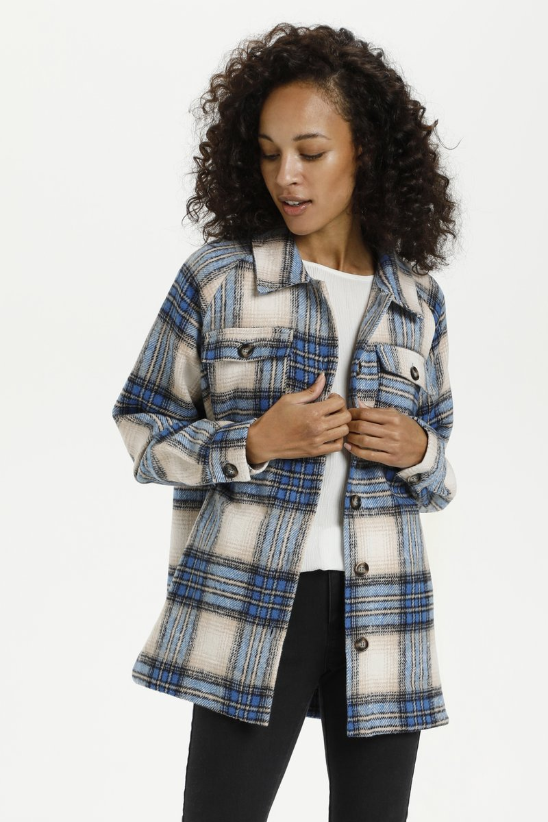 Kaffe - KATALIA  - Summer jacket - multi blue check