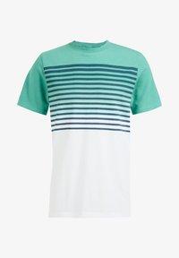 WE Fashion - GESTREEPT  - Print T-shirt - mint green - 5