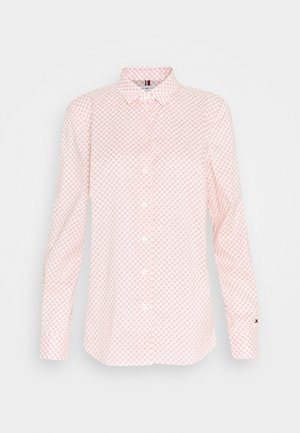 BRITTANY SLIM PRINT - Button-down blouse - light red