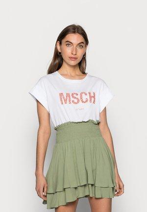 ALVA SEASONAL TEE - T-shirt - bas - white/rose