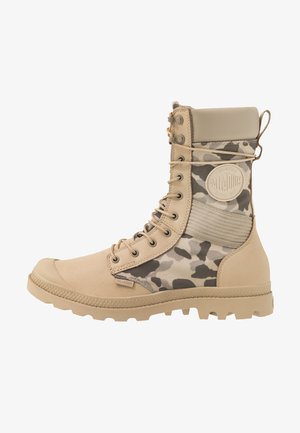 TACTICAL OPS WATERPROOF - Lace-up ankle boots - safari