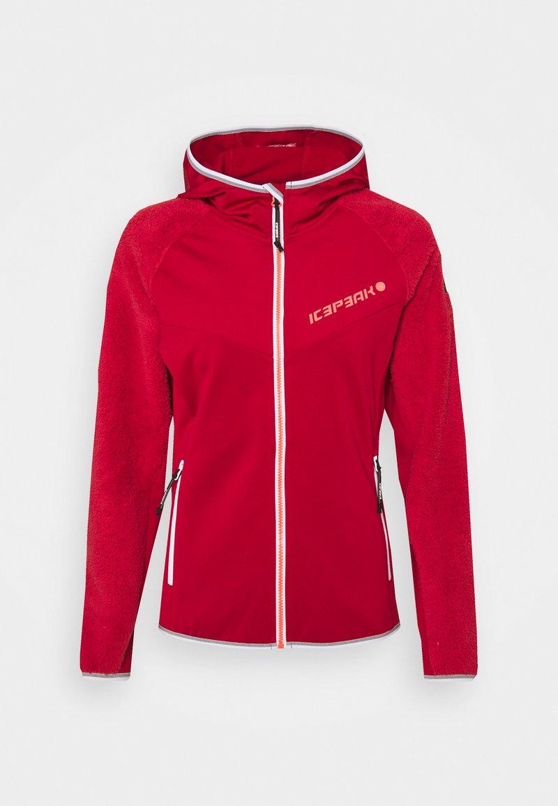 Icepeak - DAHLEN - Fleece jacket - burgundy