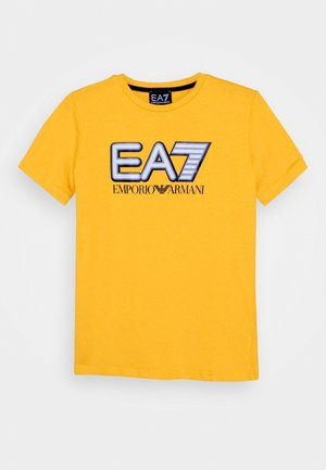EA7 - Print T-shirt - old gold