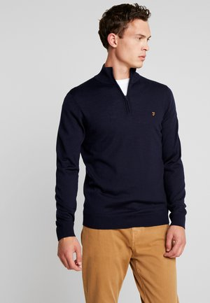 REDCHURCH ZIP EXTRA FINE - Stickad tröja - true navy