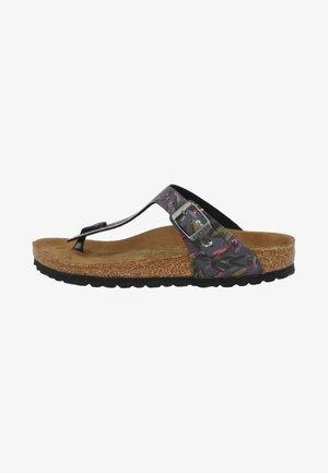 T-bar sandals - floral fades anthracite