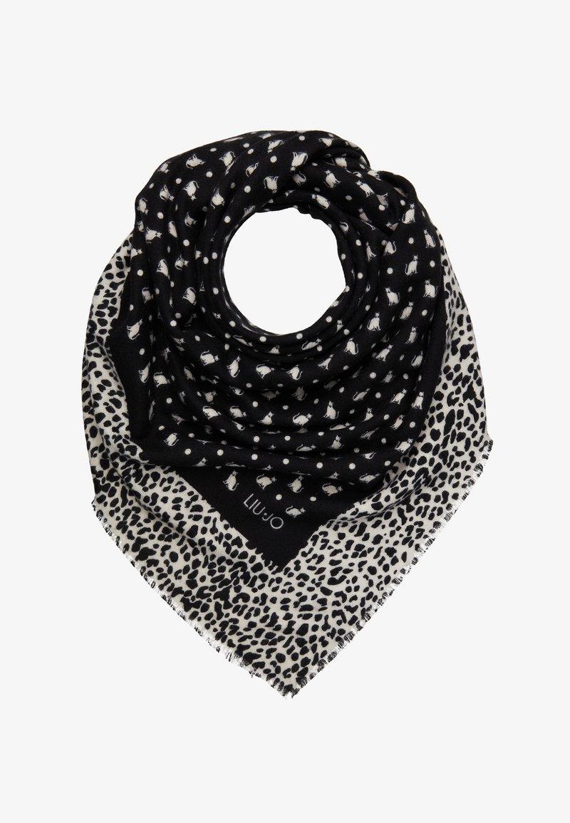 LIU JO - FOULARD GARZATO PENOMBRE MACULA COLO - Šátek - black