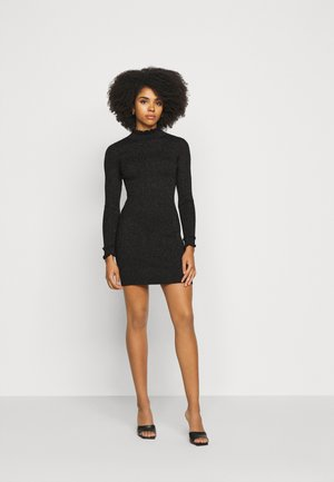 ASHLEE - Pletené šaty - black