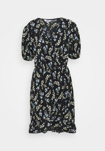 SPRIG DITSY FOCHETTE MINI FRILL FRONT DRESS - Jerseykjole - multi