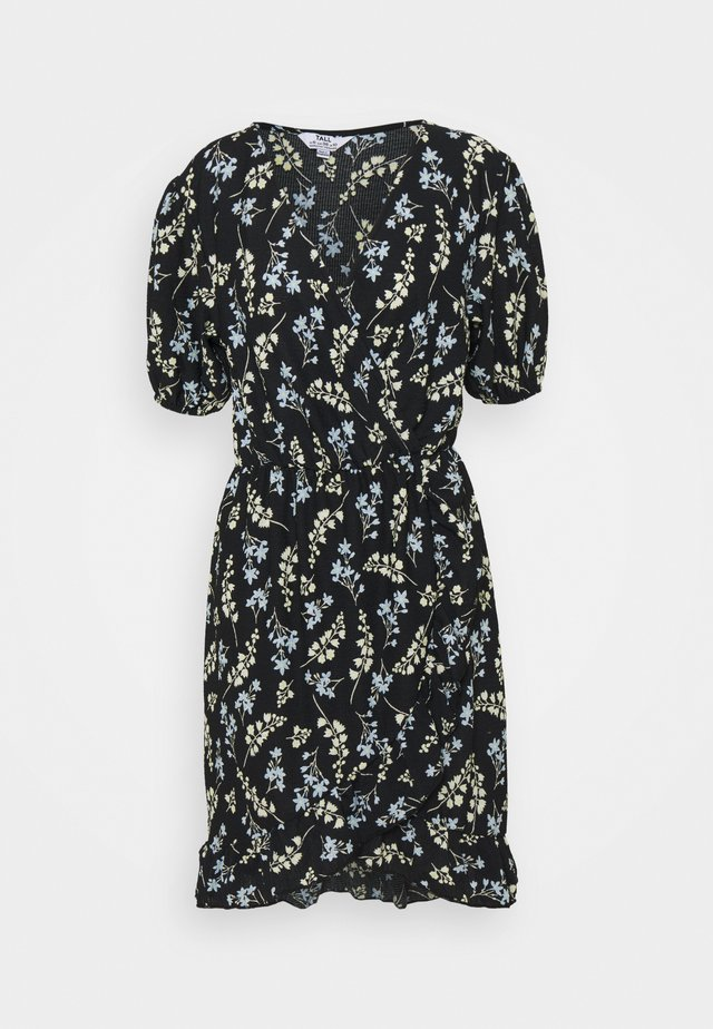 SPRIG DITSY FOCHETTE MINI FRILL FRONT DRESS - Jersey dress - multi