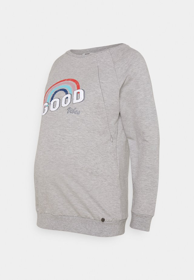 GOOD VIBES - Sweatshirt - grey