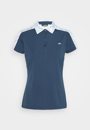 CARA GOLF - Polo shirt - animal blue white