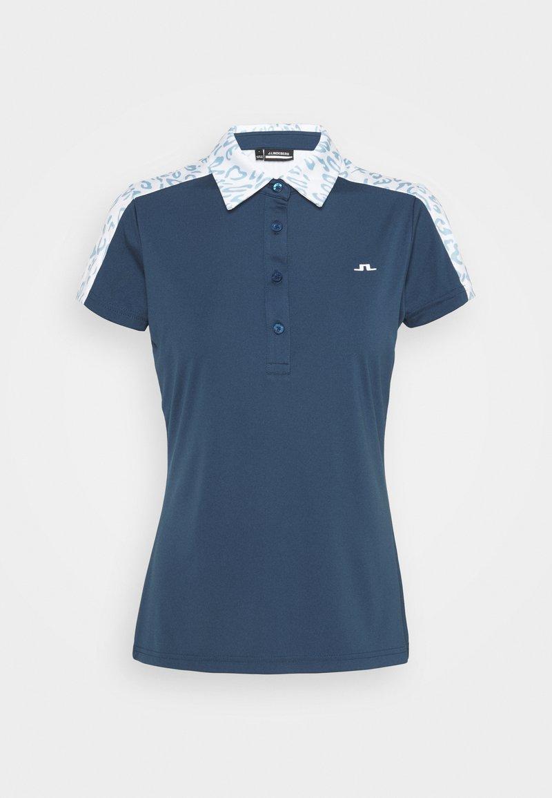 J.LINDEBERG - CARA GOLF - Polo shirt - animal blue white